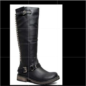 "Breckelles ""trooper"" black knee boots"